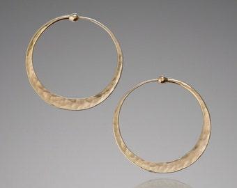 Gold Bridal Earrings // X Small 14k Gold Hoops // Gold Wedding Earrings // Simple Gold Earrings // Elegant Earrings // Wedding Hoops