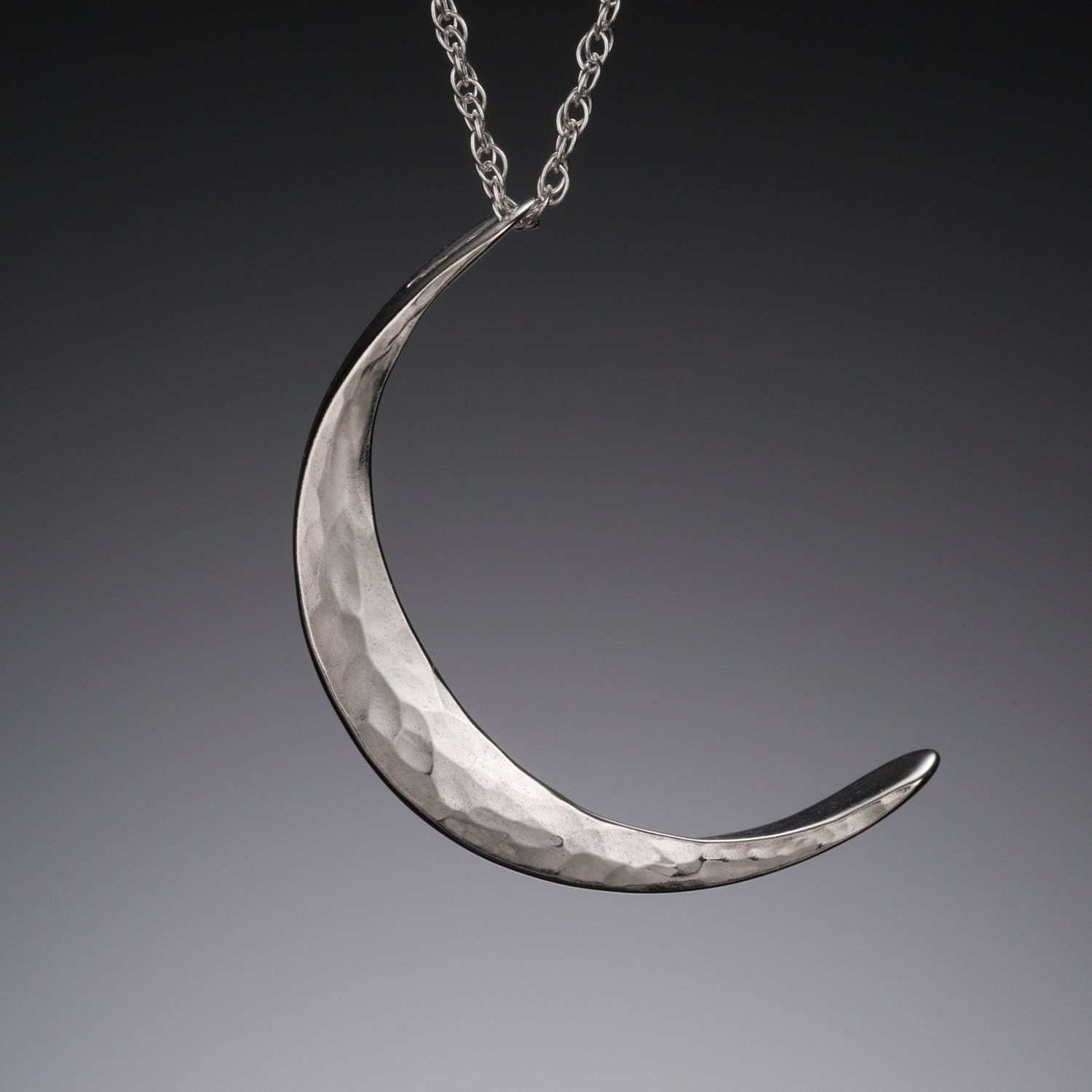 M silver crescent moon necklace moon goddess necklace zoom aloadofball Gallery