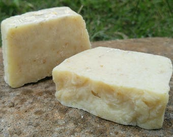 Natural Lye Soap with Oatmeal Perfect Shave Soap with Rich Lather No fragrances or dyes