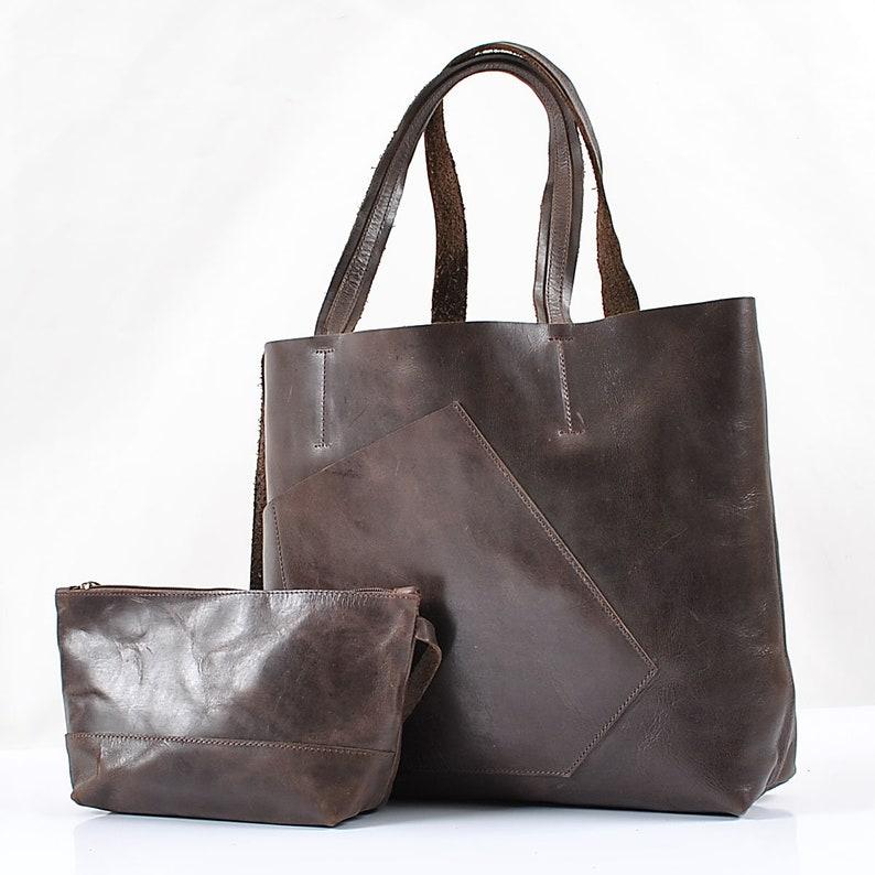 Leather purse Leather Shopper bag Leather tote bag for women Women/'s Leather tote bag Brown leather tote Women/'s  leather bag