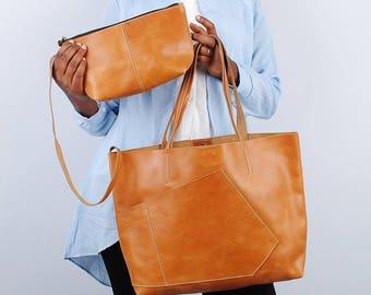 Leather Tote Bag for women Shoulder bag for women leather laptop bag