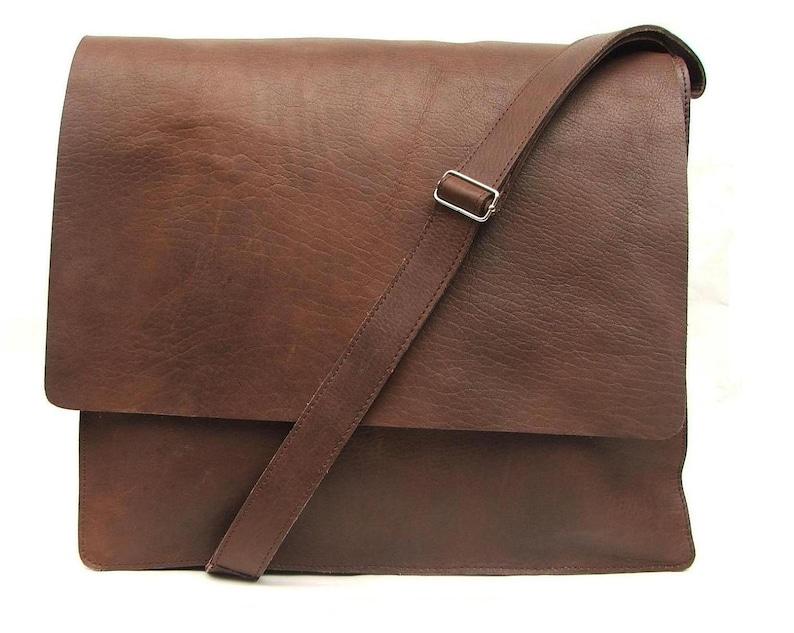 c3ed17959741 Messenger bag Mens Brown Leather crossbody bag laptop bag | Etsy