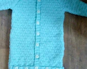 Sac de couchage bébé en tricot à la main