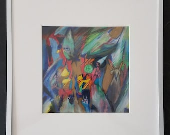 "Original FRAMED Drawing on Paper - ""Inside Out"""