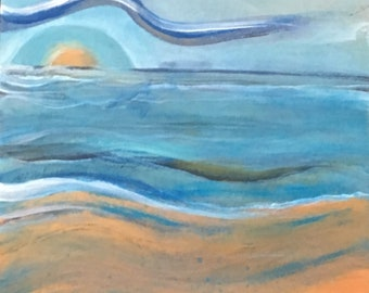 """Original Acrylic Painting on Plywood - """"Relaxation"""""""