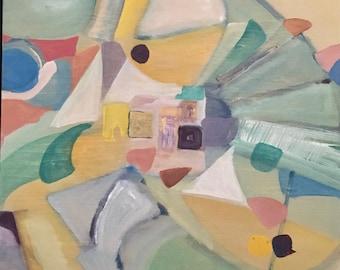 """Original Acrylic Painting on Plywood - """"Splan to Do"""""""