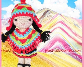 Girl from Machu Picchu Peru Amigurumi PDF Crochet Pattern by  Handmadekitty