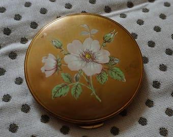 Vintage Floral Mirror Compact