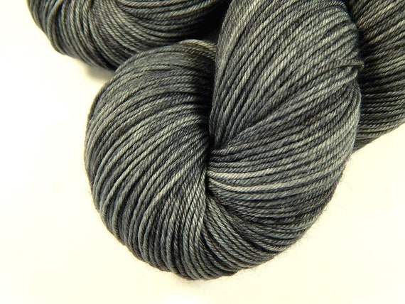 wine and black two tone merino nylon blend Chalice hand dyed yarn 4ply fingering sock