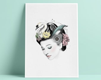 Wellness Beauty Portrait - Art Print