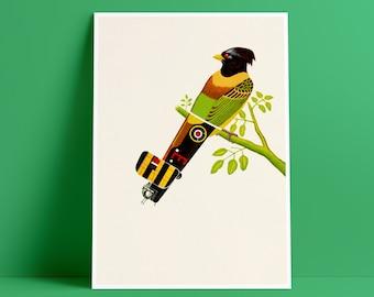 Aerofauna Green - Art Print