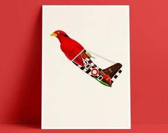 Aerofauna Red - Art Print