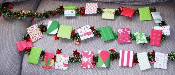 Custom Tea Advent Calendar Garland Assorted Tea Wall Hanging Etsy