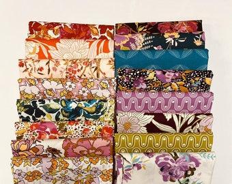 16 Fat Quarters 365 Fifth Avenue Bundle Precut Fabric by Bari J for Art Gallery