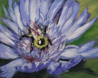 Aster - original daily painting by Kellie Marian Hill