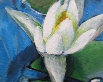 Waterlily - original daily painting by Kellie Marian Hill