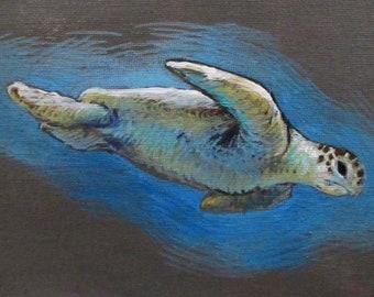 Oceangoer - original daily painting by Kellie Marian Hill