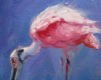 Spoonbill - original daily painting by Kellie Marian Hill