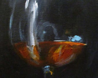 Snifter - original daily painting by Kellie Marian Hill