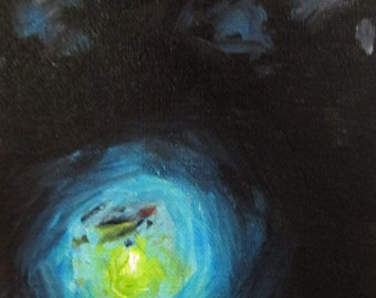 Lightning Bug - original daily painting by Kellie Marian Hill