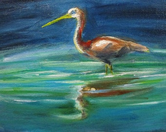 Juvenile Plumage - original daily painting by Kellie Marian Hill