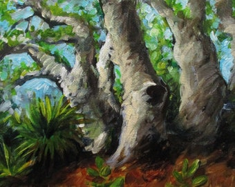 Palmetto and Oak - original daily painting by Kellie Marian Hill