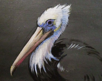 Pelican - original daily painting by Kellie Marian Hill