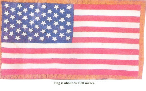 American Flag Afghan Throw Crochet Pattern Pdf Instant