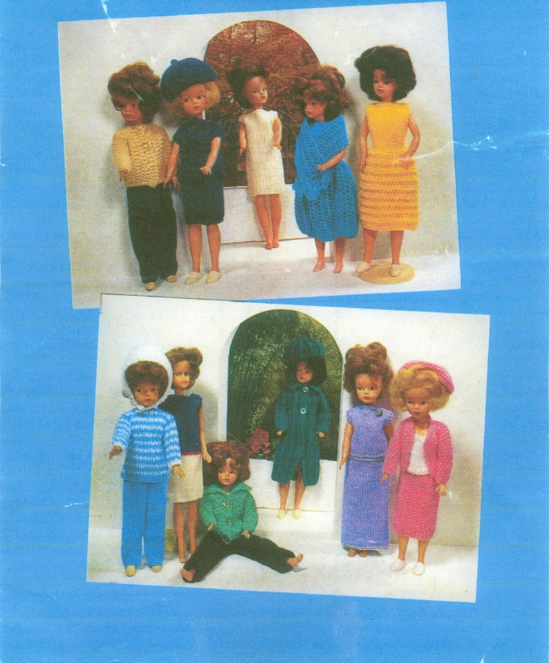 3fab5a9a15f0 Fashion Doll Clothes Knitting Pattern Book 12 Outfits PDF