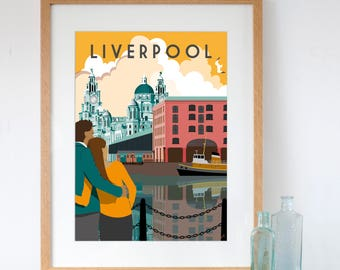 Liverpool Albert Dock and the Three Graces Art Print