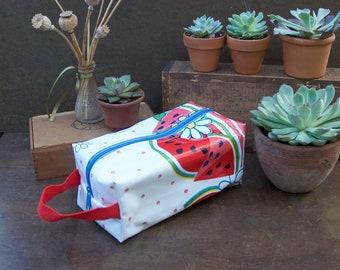 Oilcloth Toiletry Bag Small Watermelon Dopp Kit