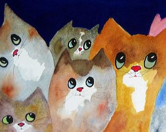 Moon Viewing Cats 3