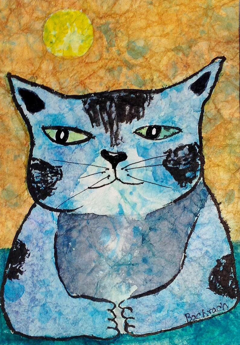 Cat Art Print Aristotle image 0