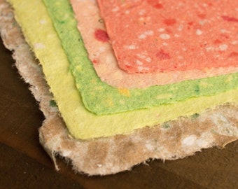 Handmade Recycled Paper - Color Pallet 1