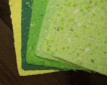 Handmade Recycled Paper - Color Pallet 5