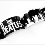 The Beatles Cuff, The Beatles, Beatles Gifts, Beatles Art, The Beatles Jewelry, Black and White, Cuff Bracelet, Leather Cuff, Mens Jewelry