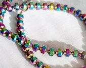 """PROTECTED By The LIGHT, 17"""" Rainbow Hematite gemstone necklace, Reiki Charged"""