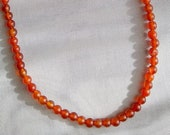 """STAND STRONG - Carnelian Necklace for Protection, Strength and Grounding, 17"""", Reiki Charged"""