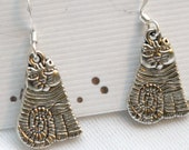 CAT FRIENDS - Silver Plated Cat Earrings, Reiki Charged