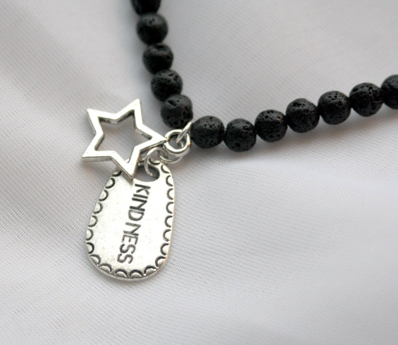 STAR FIRE 17 Natural Lava Stone Necklace with Kindness image 0