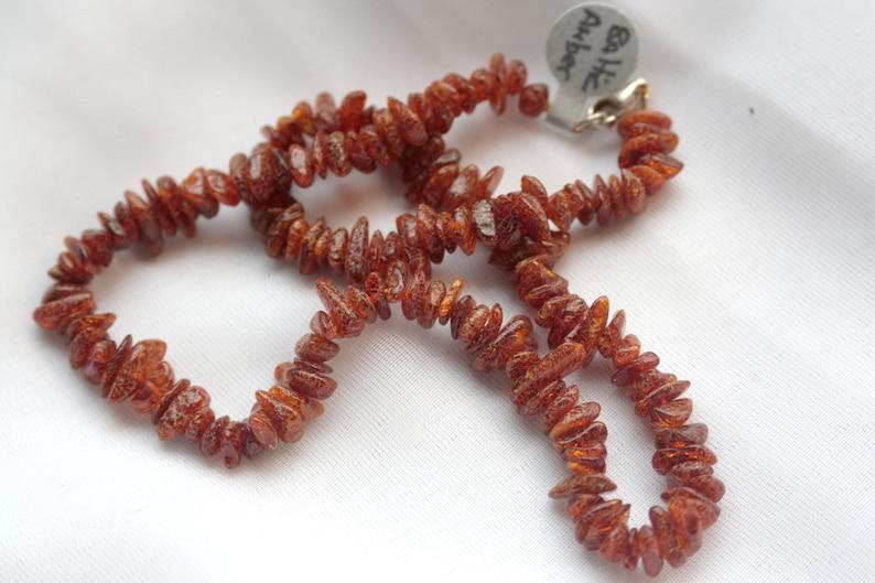 WOODLAND WONDER Raw Baltic Amber Necklace Reiki Charged image 0