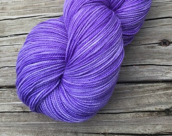 lilac lavender cashmere sock yarn, Hand Dyed Sock Yarn, Avast ye Wildcats, Cashmere Super Toes, 600 yard skein
