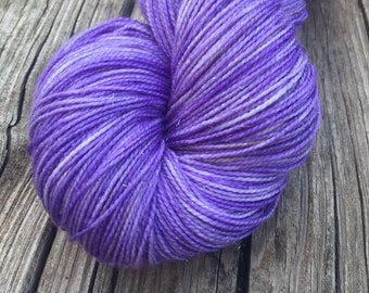 Sparkle Toes Sock Yarn Avast ye Wildcats Hand Dyed 438 yards royal purple KSU superwash merino nylon stellina fingering lilac ready to ship