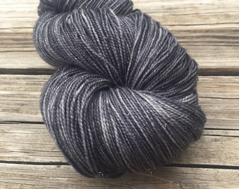Ghost Ship   Sparkle Toes Sock Yarn   charcoal gray