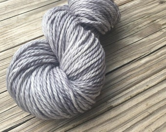 Hand Dyed Bulky Yarn Pieces of Eight Silver Gray yarn 100% superwash merino wool 106 yards grey moonlight bulky chunky ready to ship yarn