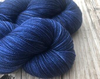 Cashmere Super Toes Sock Yarn   Fathoms Deep   navy blue midnight   600 yards