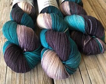 Sea Turtles, Hand Dyed Sock Yarn, Treasured Toes, OOAK