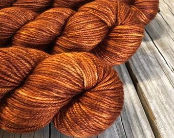 Copper Cove Hand Dyed DK Yarn, silk merino yarn, Silken Purls