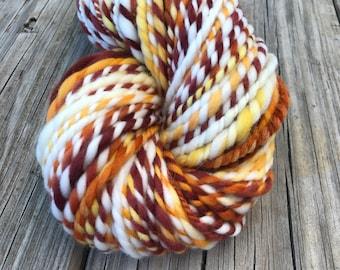 Handspun Bulky Yarn | Sunny Day | extra fine merino wool | soft yarn | 2 ply