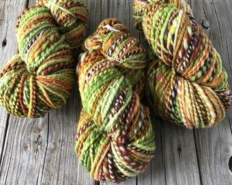 Handspun Bulky Yarn | Autumn Beauty | fine merino wool | 2 ply
